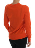 Orange Cashmere Cardigan Sweater