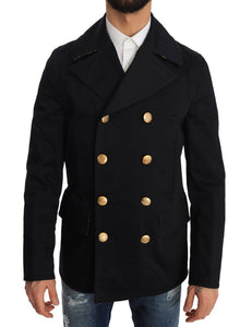 Trench Blue Cotton Stretch Jacket
