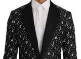 Black Silk Jazz Guitar Blazer Jacket