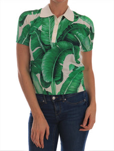 Green Banana Leaf  Polo T-shirt
