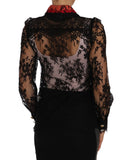 Black Lace Crystal SPACE Shirt