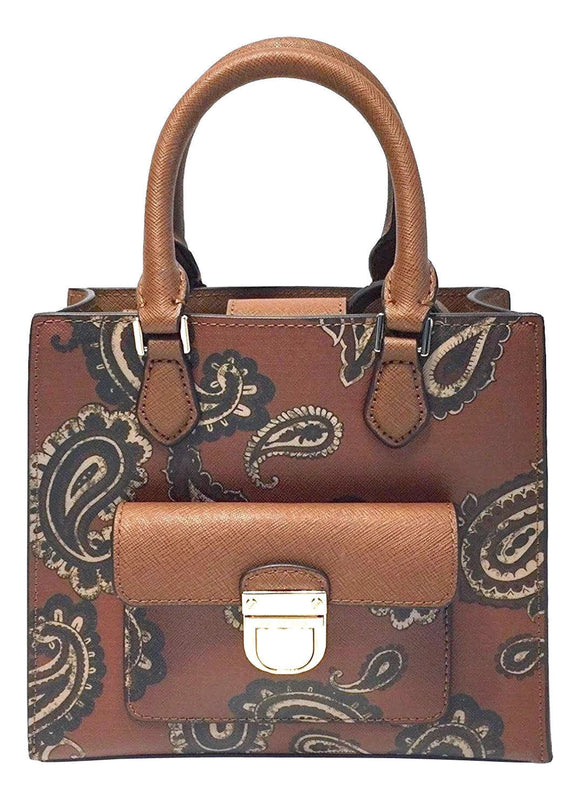 Bridgette Paisley Brown Handbag