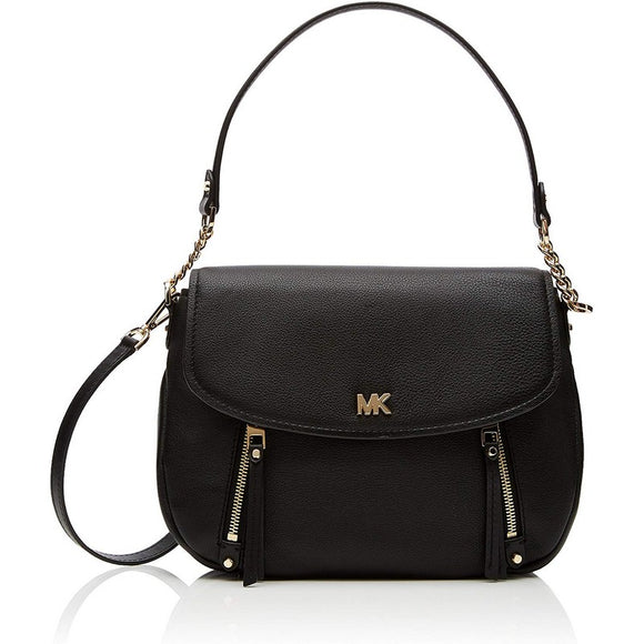 Evie Convertible Black Leather Shoulder Bag