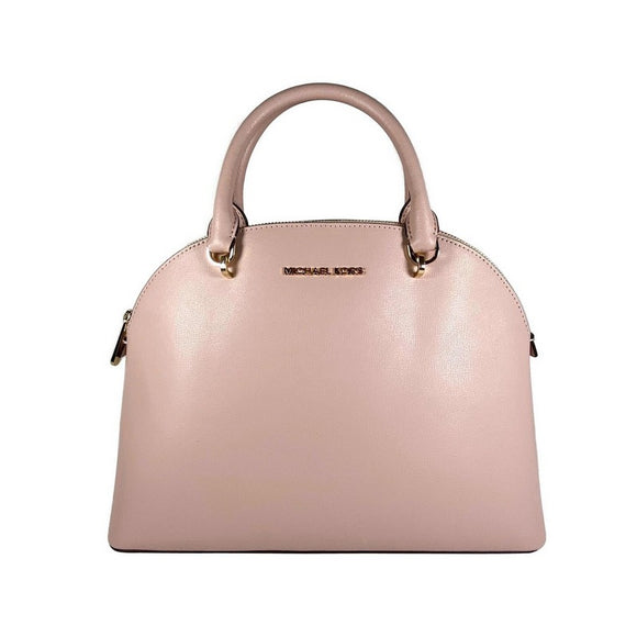 Emmy Large Dome Leather Satchel Bag