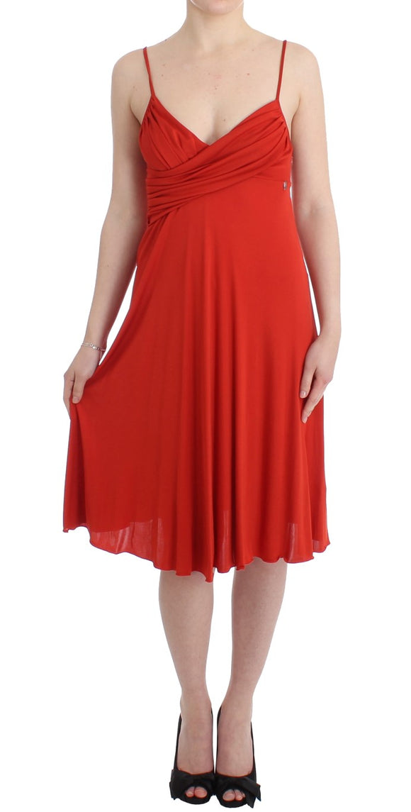 Red A-Line Cocktail Dress
