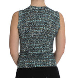 Blue Wool Sweater Sleeveless Pullover