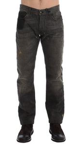 Gray Wash Regular Cotton Denim Jeans