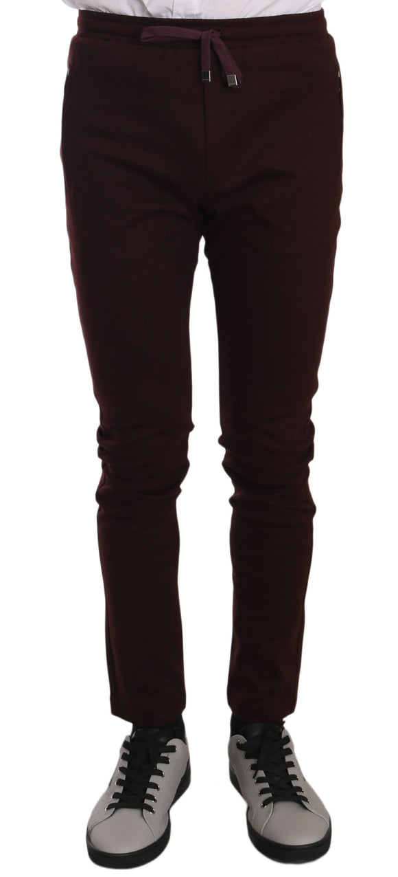 Maroon Cotton Casual Training  Pants