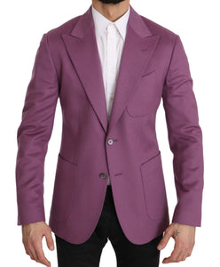 Purple Cashmere Jacket Coat Blazer