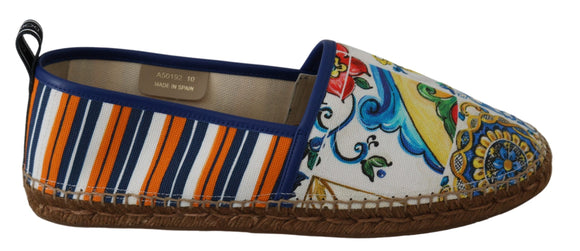 Multicolor Majolica Espadrilles Loafers Flats Shoes