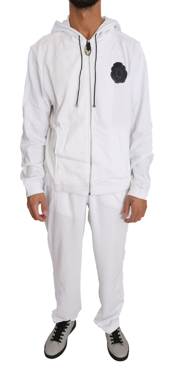 White 100% Cotton Sweater Pants  Tracksuit