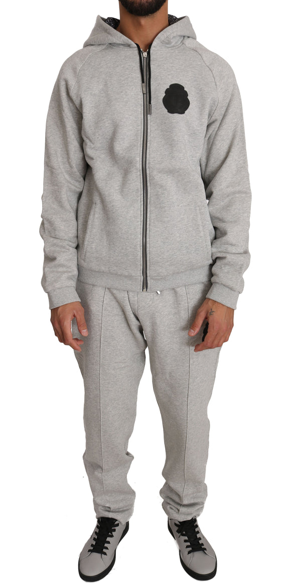 BIC Gray 100% Cotton Sweater Pants Tracksuit