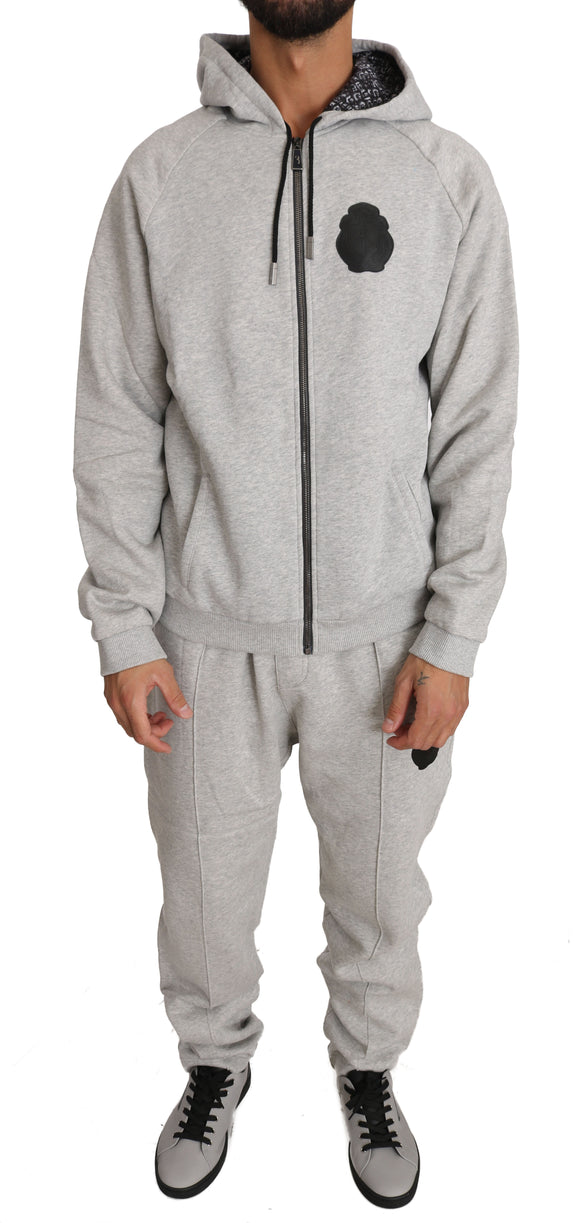 Gray Sweater Pants Tracksuit 100% Cotton