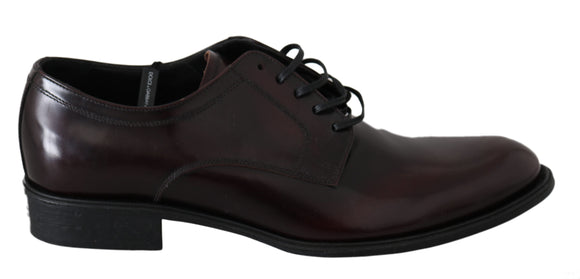 Red Bordeaux Leather Derby Dress Mens  Shoes