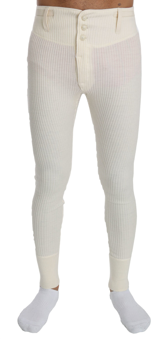 White Wool Sweatpants Trouser Tights Mens Pants