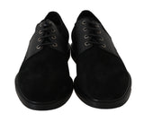 Black Leather Lace Derby Dress Formal Mens Shoes