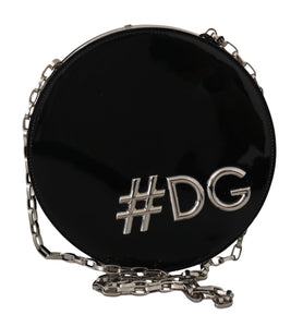 Black Leather Shoulder #DG GIRLS Clutch Purse