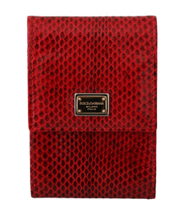 Red Snakeskin Hand Purse Phone Holder Leather Wallet