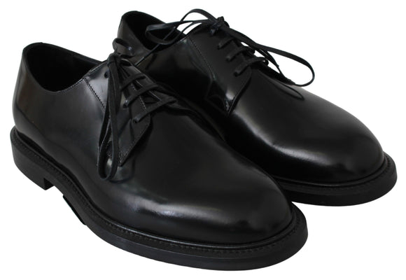 Black Leather Derby Dress Formal Mens Shoes