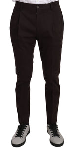 Bordeaux Cotton Stretch Skinny Formal Pants