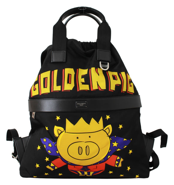Black Super Pig of the Year Backpack Bag