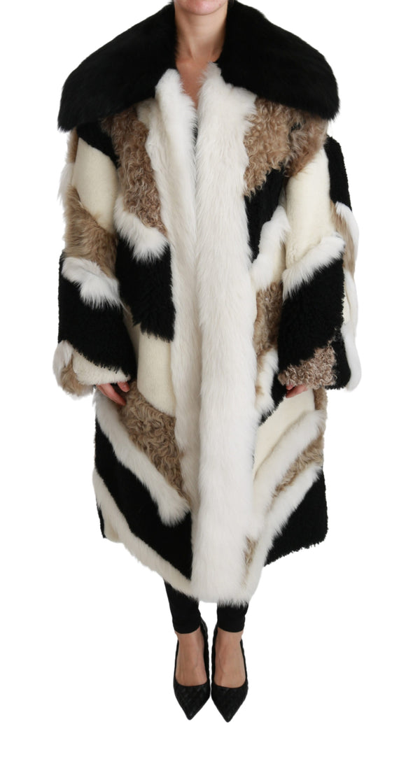Sheep Fur Shearling Cape Jacket Coat