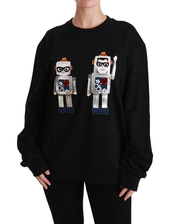 Black Robot #dgfamily Pullover Sweater