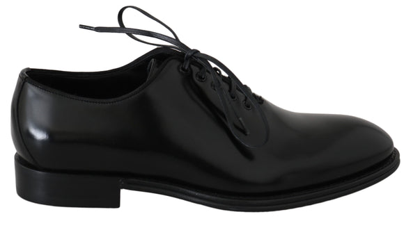 Black Leather Dress Derby Formal Mens Shoes