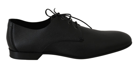 Black Leather Derby Formal Mens Shoes