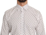 Black Polka Dot MARTINI White Cotton Shirt