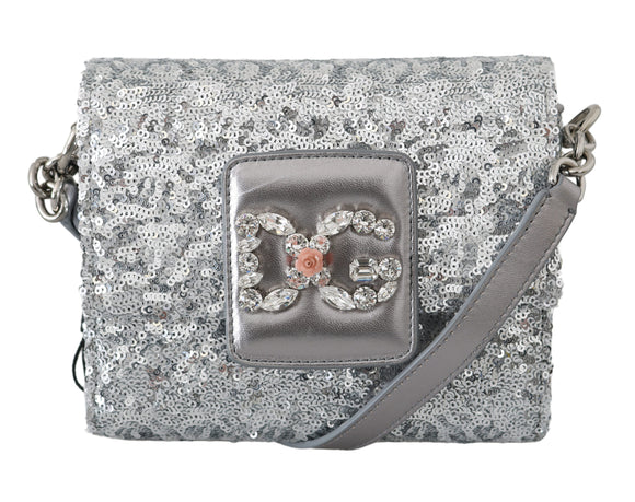 Silver Sequin Crystal Crossbody Millennials Purse