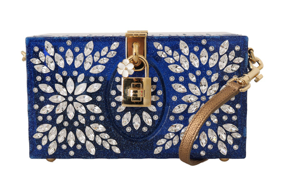 SICILY Blue Plexi Crystal Clutch Purse