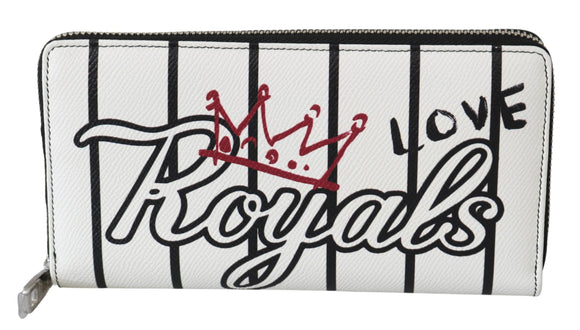 White Royals Love Continental Clutch Mens Leather Wallet