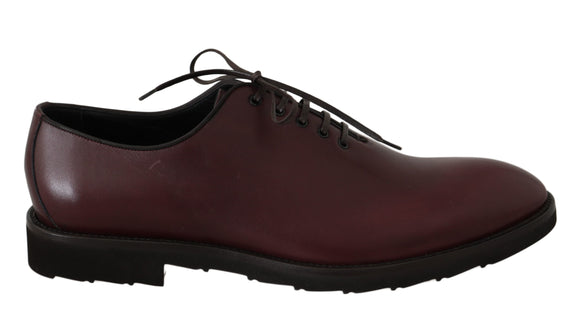 Bordeaux Leather Derby Dress Formal Shoes