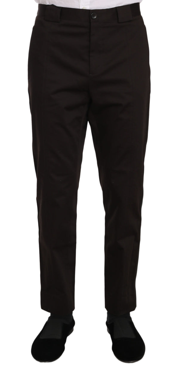 Purple Cotton Stretch Formal Trouser Pants