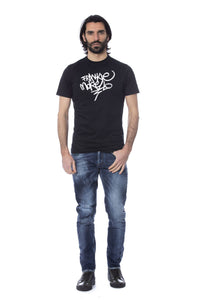 Black FRANKIE MORELLO White Print T-shirt