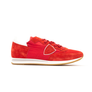 Rosso Rouge Leather Laced Sneakers