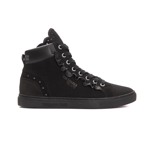 Nero Black Calf Leather TJ Sneakers