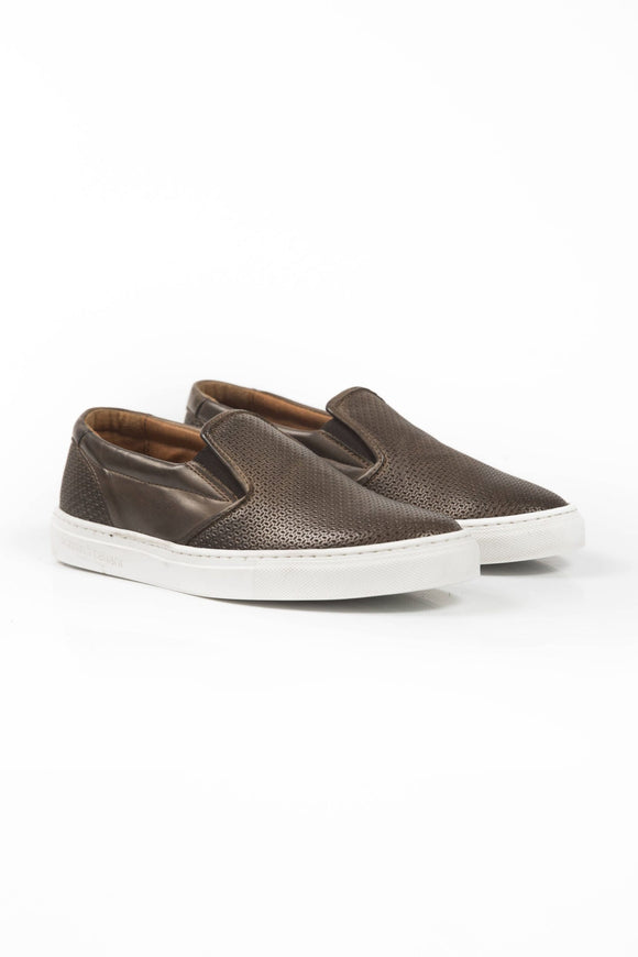 Fango Mud Brown Leather Sneakers
