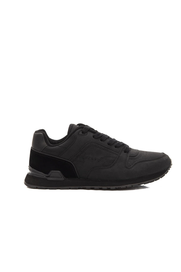 Black Low Top Go Race Sneakers