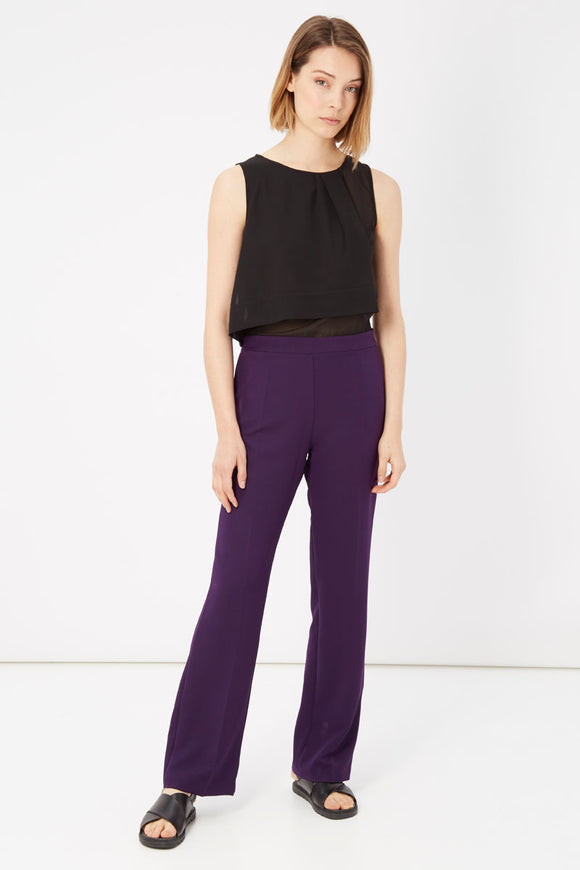 Bicolour Violet Sleeveless Jumpsuit