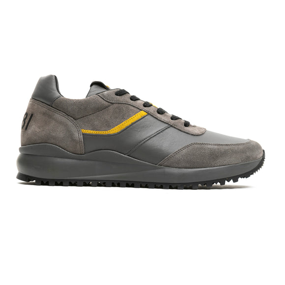 Grey Yellow Contrast Sneakers