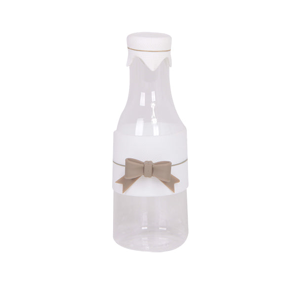 Milk Bottle With Ribbon Taupe