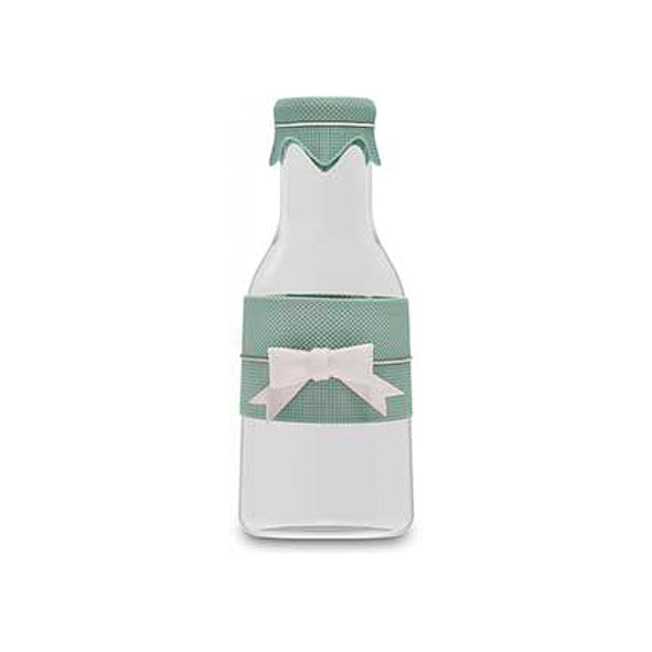 Milk Bottle With Ribbon Light Green - Modali Design