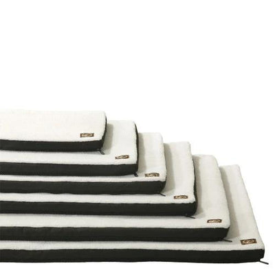 Plush Memory Foam White Crate Mat