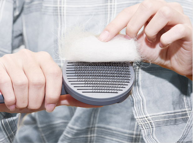 Self-Cleaning Slicker Brush