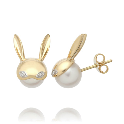 Diamond Bunny Earrings