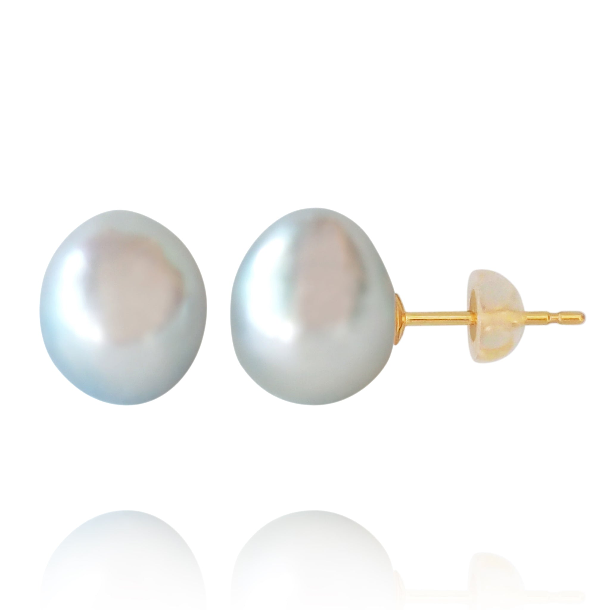 Blue Baby Baroque Pearl Earrings