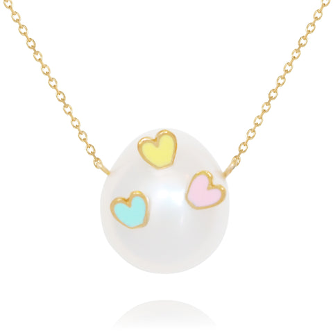 Striking Hearts Tricolour Necklace