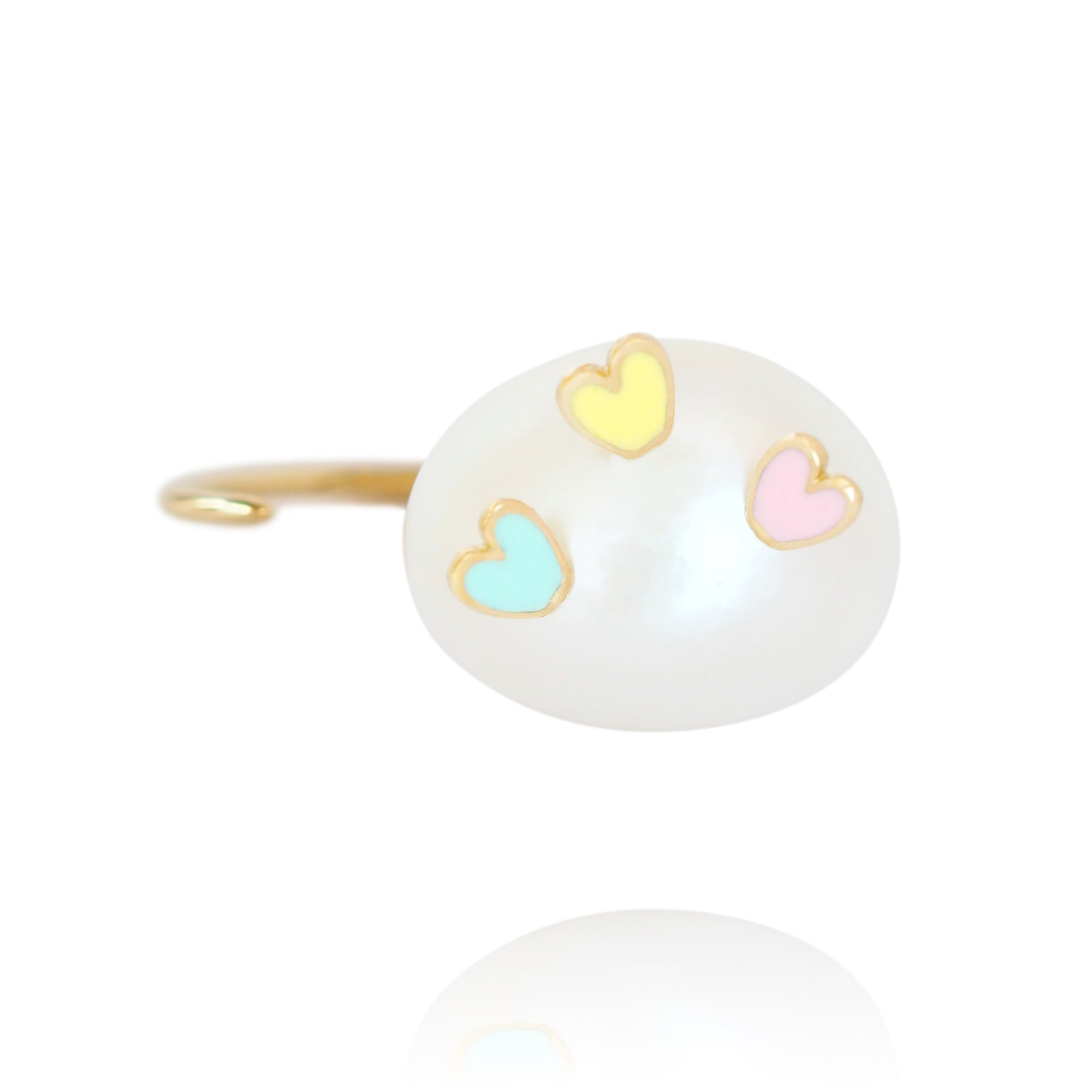 Striking Hearts Tricolour Ring